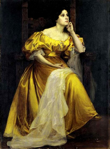 Louise Zaring portrayed by Joseph Henry Sharp