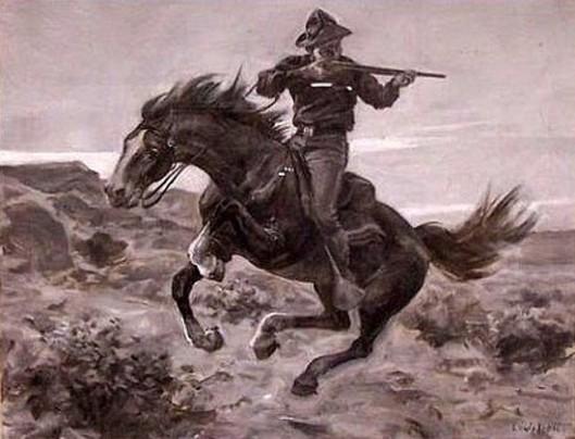 Rider Firing From A Horse