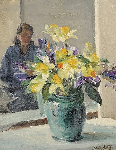 Still Life With Daffodils And Figure