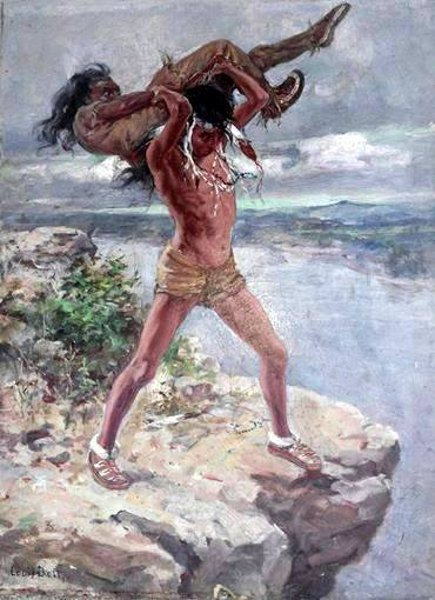 Two Indians Fighting