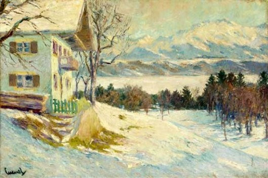 A Chalet In Winter Landscape