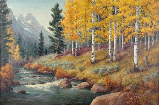 Autumn Mountain Scene