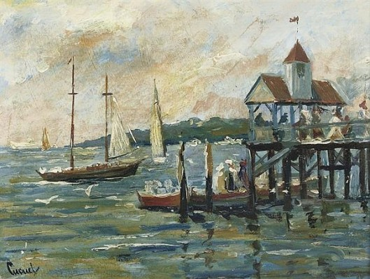 Boats By A Pier