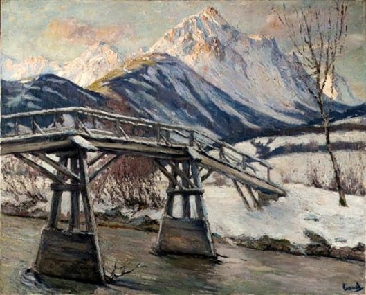 Bridge In Winter Landscape