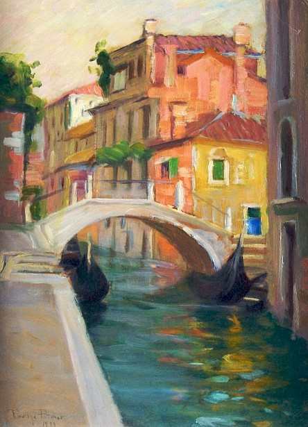 Canal In Venice - Venetian Bridge