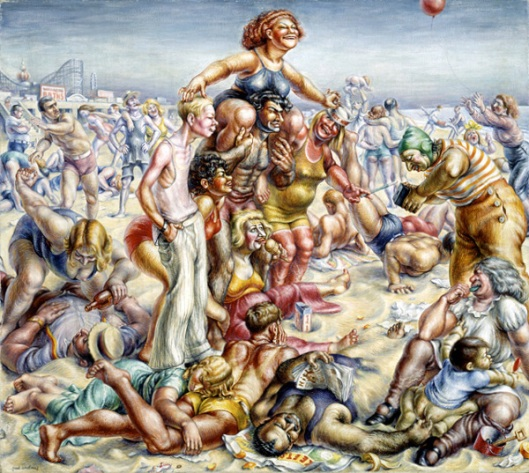 American Realism Art Coney Island
