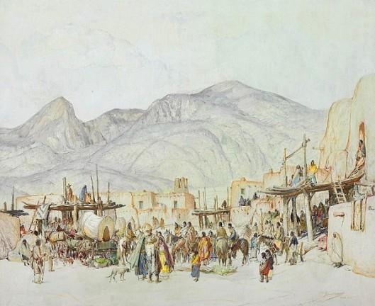 Fiesta Day In Taos Pueblo