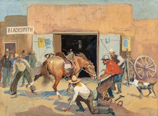 Horse Shoeing At The Blacksmith's