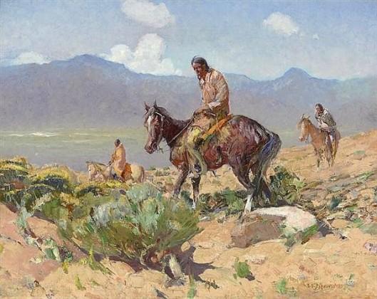 Indians On Horseback - Summer Hunt