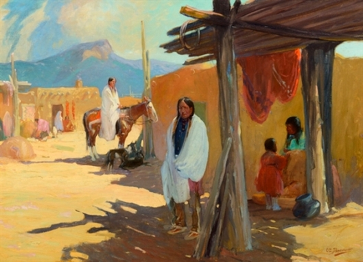 Morning Shade, Taos Pueblo