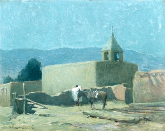 Old Mission At Taos