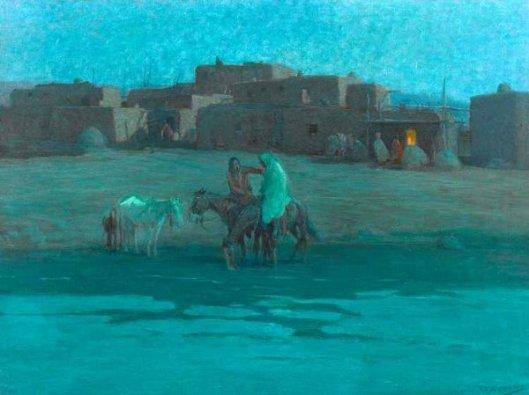 Twilight Taos Pueblo