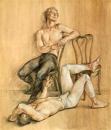 Two Dancers With Bentwood Chairs