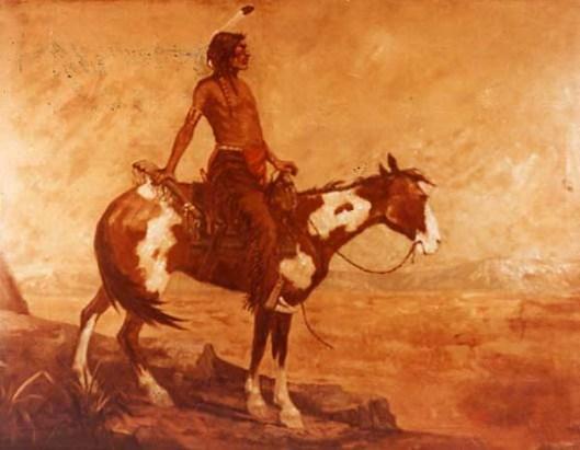 White Eagel On Horseback