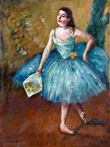 Ballerina In Blue - Curtain Call