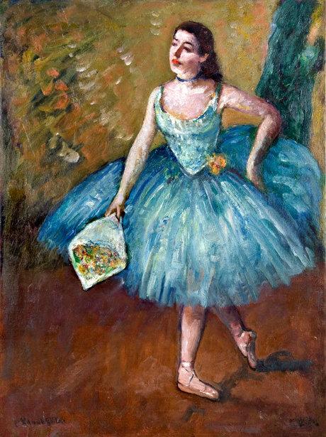Ballerina In Blue - Curtain Call