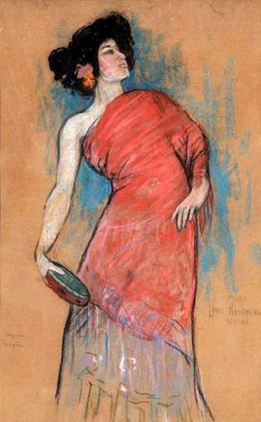 Eugenie Fougere - Dancer With Tambourine