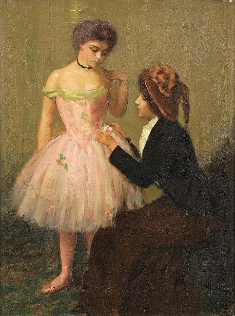 Fixing Her Costume