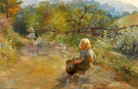 Three Children In A Field