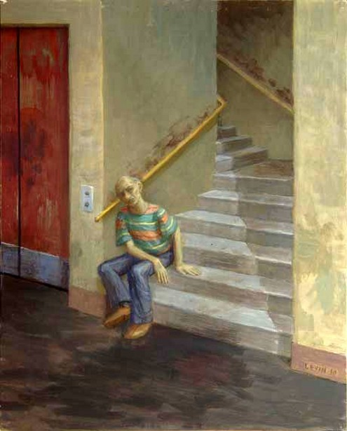 Man Sitting On Step