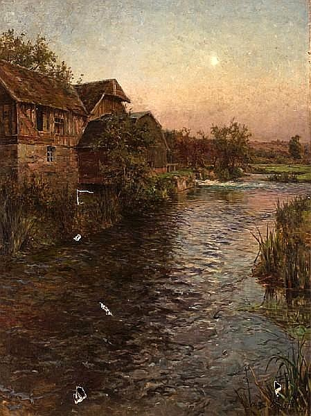Mill In Moonlight