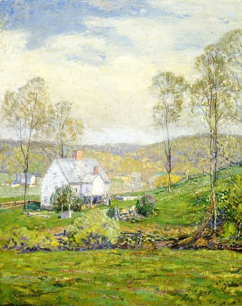 A Farmyard In Spring