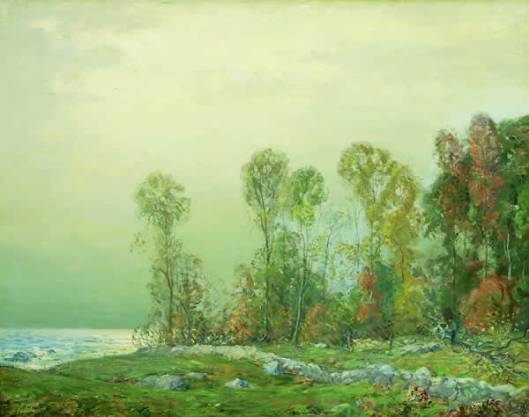 Woodcutter In A Fall Landscape