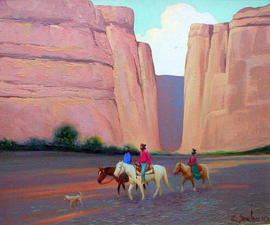 Deceased Navajos In The Canyon