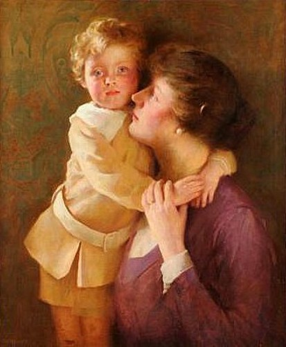 Sonny - Portrait Of Artist's Wife And Son