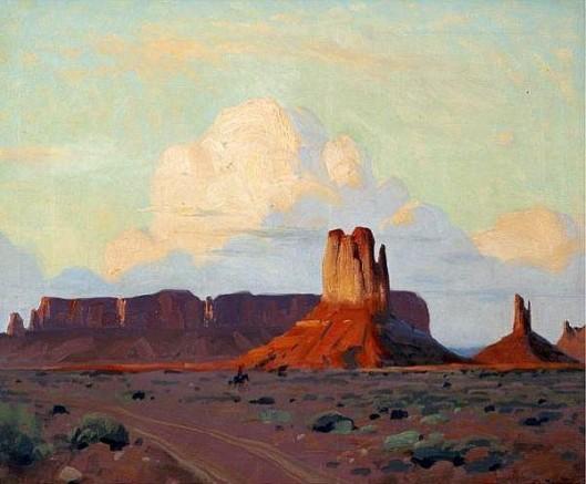 Sundown In Monument Valley, Utah