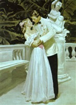 Couple Embracing On A Terrace