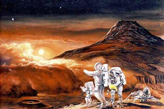 Mars Landing - Dust Storm On Mars