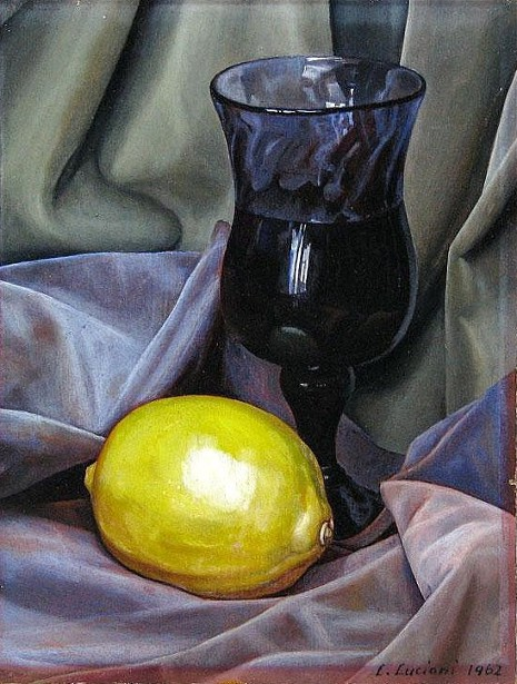Still Life With Lemon And Glass Of Wine