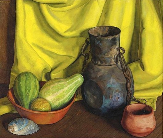 Still Life With Yellow Cloth