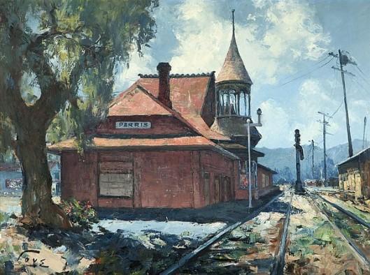 Santa Fe Railway Station, Perris, CA
