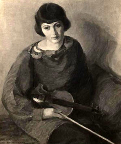 Girl With Violin (Armen Nichols)