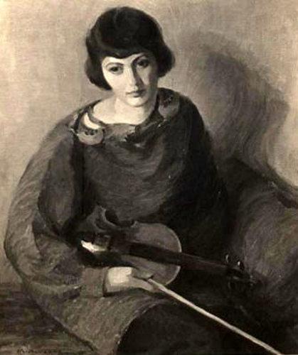 Girl With Violin (Armen Nichols)
