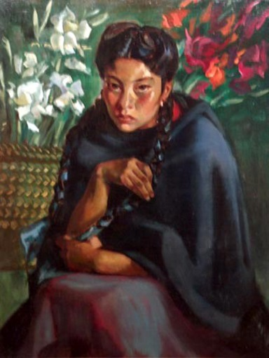 Seated Woman In Cloak