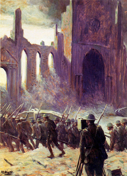 American Troops Advancing