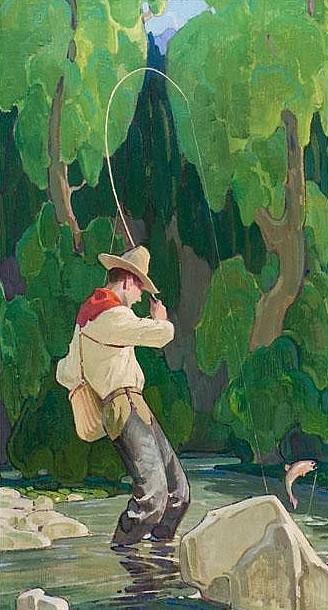 Fisherman In A Stream