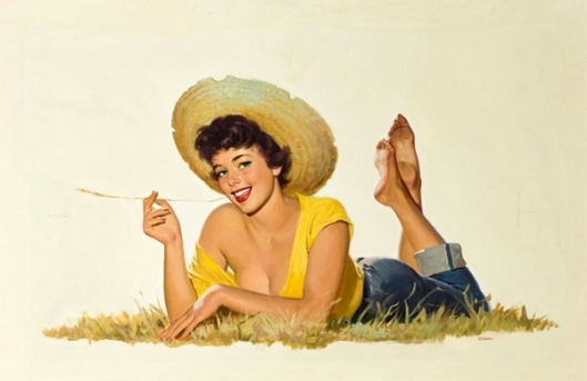 Pin-Up In Straw Hat