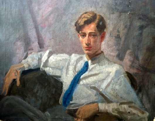 Peter John Stephens (The Artist's Son) (Painting courtesy of Dilys Finlay Stephens)