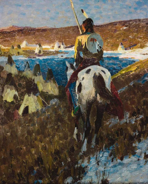 Winter Camp Of The Sioux