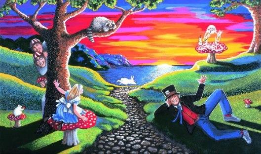White Rabbit In Wonderland