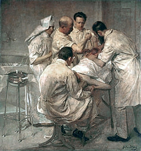Ernst Wertheim At An Operation