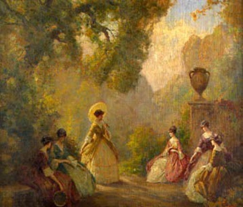 Ladies In A Garden