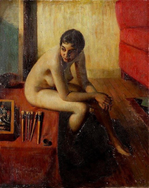 Model Seated In The Artist's Studio