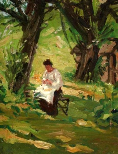 Mother In The Garden