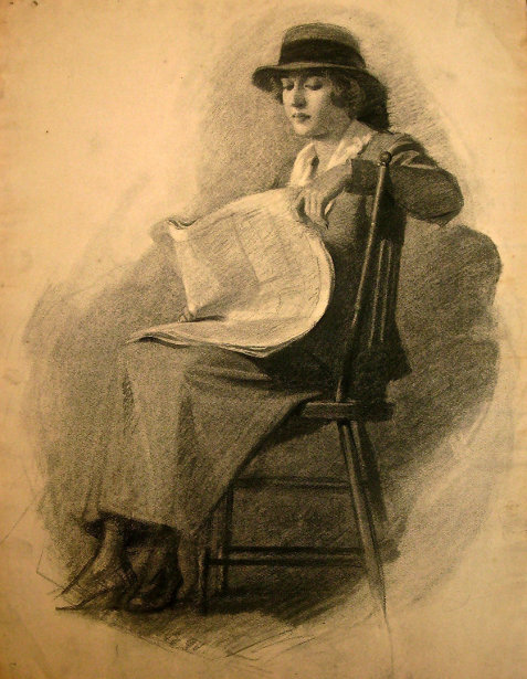Elegant Woman Reading