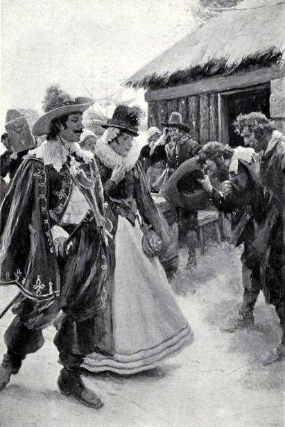 Christopher Newport Arrives In Jamestown